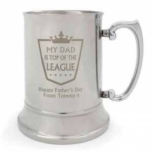 Top of the League Stainless Steel Tankard