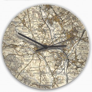 1896 - 1904 Revised New Map Clock