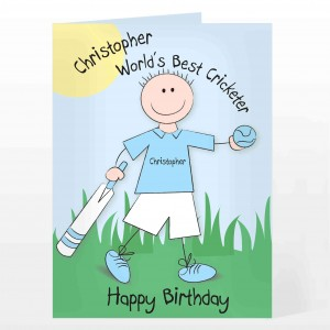 Worlds Best Cricketer Card