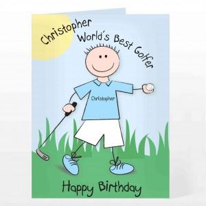 Worlds Best Golfer Card