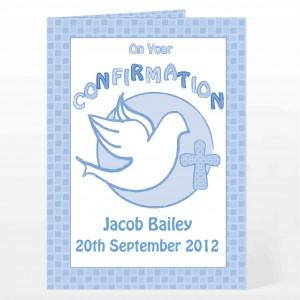 Confirmation Card-Blue