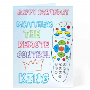 Remote Control King Card
