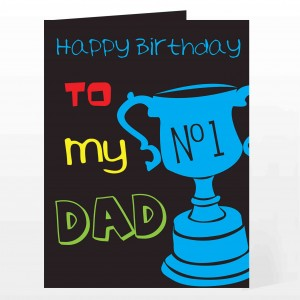 Bright No1 Dad Card