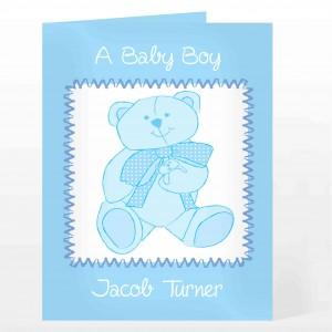 Blue Teddy Card