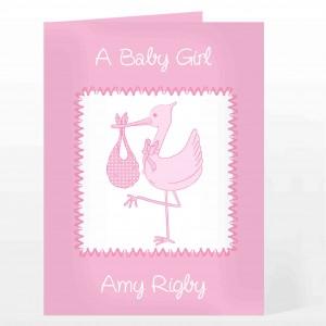 Pink Stork Card