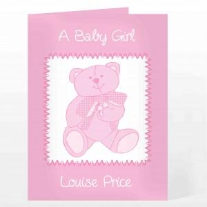 Pink Teddy Card
