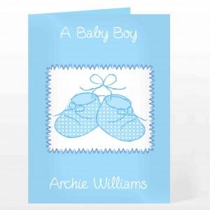 Blue Bootie Card