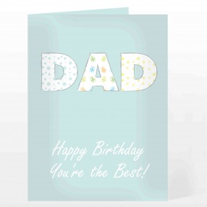 Dad Patterned Card