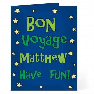 Bon Voyage Blue Star Card