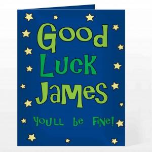 Good Luck Blue Star Card