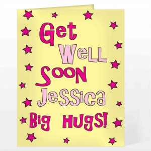 Get Well Pink Stars Card