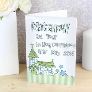 Blue Church Card