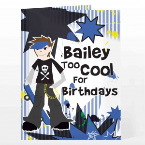 Too Cool Boy Card