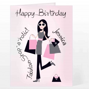 Fabulous Shopaholic Card