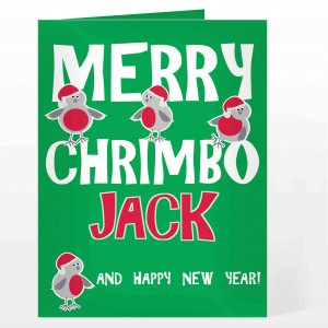 Merry Chrimbo Robin Card