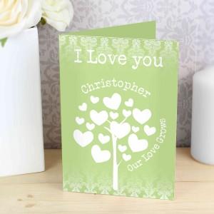 Love Grows Card Green