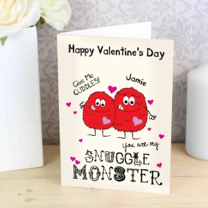 Snuggle Monster Card