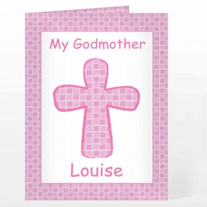 Pink Cross Card