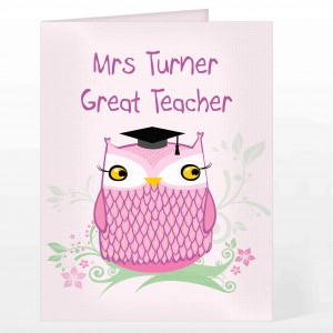 Miss Owl Card