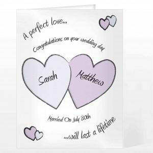 Perfect Love Wedding Card