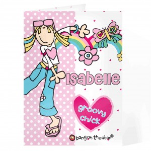 Bang on  the Door Groovy Chick Card