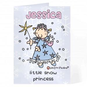 Bang on the Door Snow Princess Card