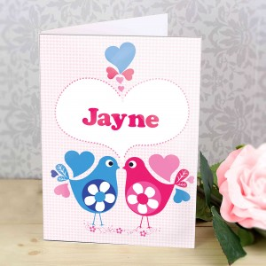 Love Heart Birds Card