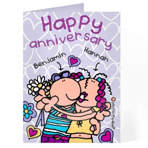 Bang on the Door Happy Anniversary Card