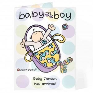 Bang on the Door Baby Boy Card