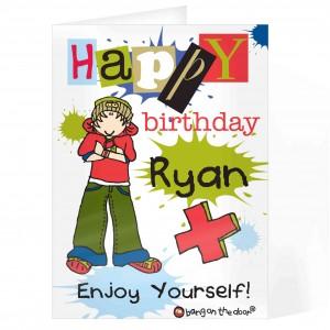Bang on the Door Boys Happy Birthday Card