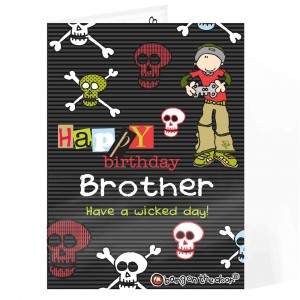 Bang on the Door Skulls Birthday Card