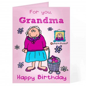 Bang On The Door Grandma Card