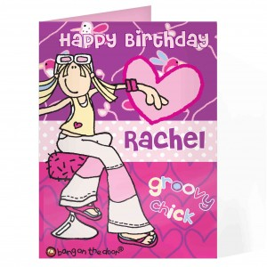 Bang On The Door Groovy Indie Chick Card