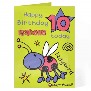 Bang On The Door Ladybird Age Card