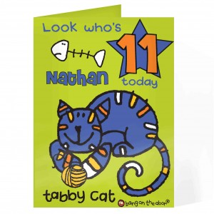 Bang On The Door Tabby Cat Age Card