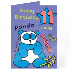 Bang On The Door Panda Age Card