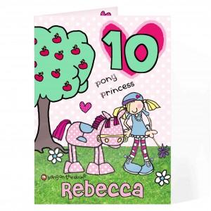 Bang On The Door Pony Princess Age Card
