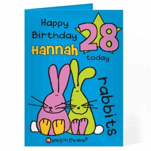 Bang On The Door Rabbits Age Card