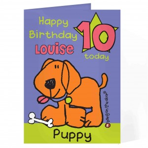 Bang On The Door Puppy Age Card