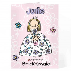 Bang On The Door Wedding Girl Card