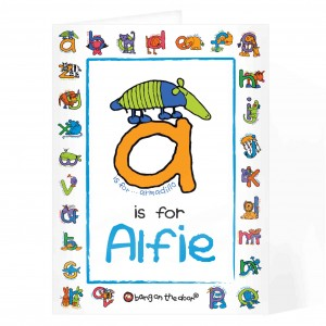 Bang On The Door Animal Alphabet Boys Card