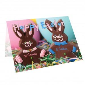 Milk Chocolate Bunny Card