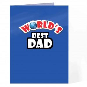 Worlds Best Blue Card