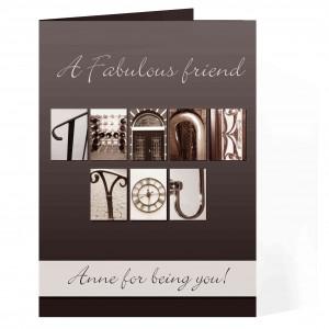 Affection Art Thank You Card