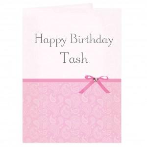 Pink Paisley Card