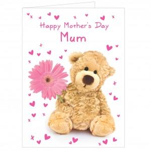 Teddy Flower Card