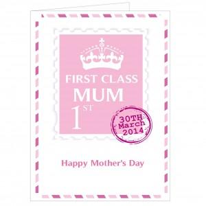 Pink 1st Class Card