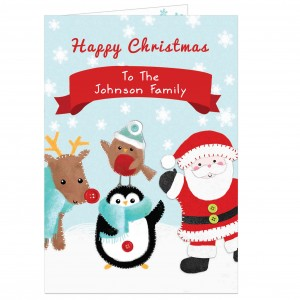 Felt Stitch Friends Christmas Card