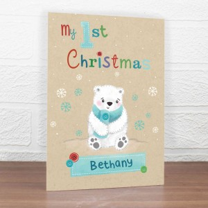 Polar Bear My 1st Christmas Card