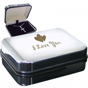I Love You Cross Necklace Box